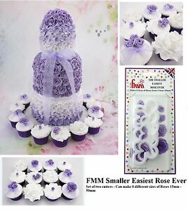 FMM Smaller Easiest Rose Ever Cutter Fondant Icing Tool For Cake Decoration 2Set