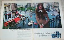 1973 print ad - YSL Yves Saint Laurent RIVE GAUCHE vintage 2-page perfume ADVERT