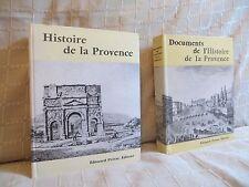 Histoire de la Provence + vol. de documents par Baratier chez Privat