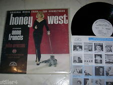 HONEY WEST *US OST*PARAMOUNT LABEL*WHITE PROMO*VINYL NM*60s LP*SEXY JAZZY*