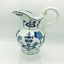 Blue Danube Pitcher Japan Blue Flowers Milk Pitcher Juice Server White
