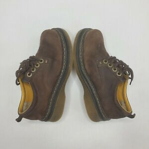 Vintage Candies 90s Shoes Brown Platform Chunky Size 7.5 M Women's Leather Lace