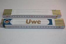 Zollstock mit  NAMEN     UWE     Lasergravur 2 Meter Handwerkerqualität