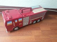 Micro Machines Fold Out PlaySet Fire Engine & Cars Retro with Cars