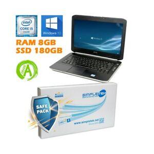 """PC COMPUTER NOTEBOOK PORTATILE DELL E5420 I5 2410M 14"""" 8GB SSD 180GB BATT NUOVA-"""