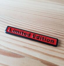 Black & Red 3D Metal Limited Edition Badge for Isuzu DMax Trooper Rodeo BigHorn