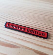 Black & Red 3D Metal Limited Edition Badge for Porsche Cayman Cayenne S Panamera