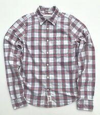 Men's Abercrombie & Fitch Plaid Button Down Muscle Fit Shirt SZ M Long Sleeve