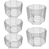 24 30 36 42 48 Dog Pet Playpen Metal Crate Fence Cage 8 Panel Exercise Play Pen