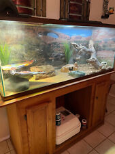 100 Gallon Terrarium with Stand and Supplies for Reptile