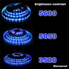 3528 5050 5630 SMD Waterproof 5M LED Warm Cool White Flexible Strip Light