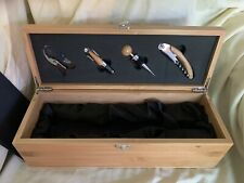 Case Elegance Wood Liquor Box And Accessories