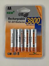 4 x AA Mignon Ni - MH Battery 1, 2V 3800 mAh Rechargeable Blister Pack NEW
