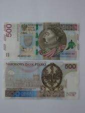 500 Zlotych (PLN) Sobieski Bill, Awarded the Most Counterfeit-Proof Banknote.