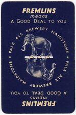 Playing Cards 1 Swap Card Old Vintage FREMLINS BEERS Brewery Beer ELEPHANT blue