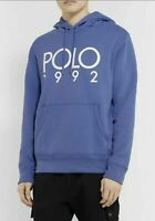 Polo Ralph Lauren Men's SZ S Fleece Graphic 1992 Montauk Hoodie Blue White