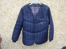 BARBOUR MENS QUILTED SHOOTING JACKET NAVY SIZE M