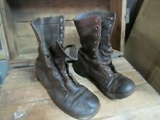 WWII Korea Jump Combat Boots Originals Russet Leather (7W)