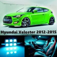 10pcs LED ICE Blue Light Interior Package Kit for Hyundai Veloster 2012-2015
