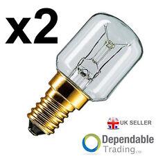 2 x 25w 240v Klar 300 Grad Hohe Tempertatur Ofen Lampe SES E14 Glühbirne