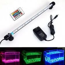 37cm Aquarium Led Light Fish Tank Lamp Submersible Strip Bar Light W/ Rc Remote