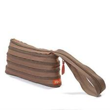 Zip it Bag ZMH Clutch with handle Khaki Brown - New & Boxed