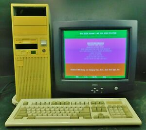 Vintage 486DX 33MHz 3 MB RAM PC Computer with Tower Case