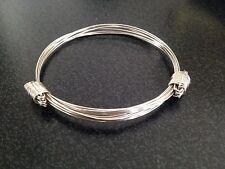 Argent sterling 925 massif elephant hair bracelet 13 grammes