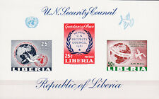 W LIBERIA C131v UNITED NATIONS SECURITY COUNCIL IMPERFORATED SOUVENIR SHEET