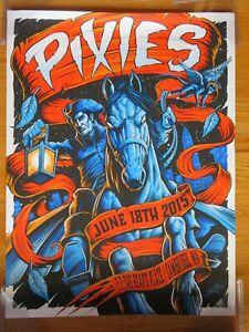 Rare PIXIES June 18 2015 T.T. THE BEAR'S PLACE Cambridge MA Concert Tour Poster
