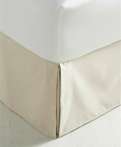 Charter Club Damask Solid 550 TC Supima Cotton FULL Bedskirt Ivory $70
