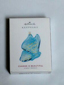 Hallmark Keepsake 2019 Change Is Beautiful Butterfly Glass Ornament