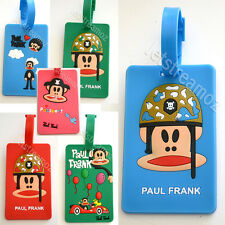 1 X Pau Frank monkey Luggage School Bag Tag Name Label ID SECURITY TRAVEL