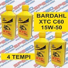 BARDAHL XTC C60 15W-50 OLIO MOTORE MOTO 4 TEMPI 4 LITRI POLAR PLUS FULLRENE