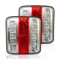 2 X LED 12V RÜCKLICHT RÜCKLEUCHTEN PKW-ANHÄNGER WOHNWAGEN LEUCHTE BLINKLICHT E4