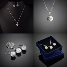 Cubic Zirkonia Modeschmuck-Sets aus Kristall-und gemischten Metallen