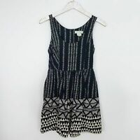URBAN OUTFITTERS Staring at Stars Women's Tie Dress Size 6 Black White Bow