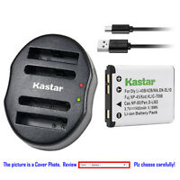 Kastar Battery Dual USB Charger for Olympus Li-42B & Stylus 7000 Stylus 7010