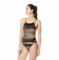 Speedo Women's Swimsuit One Piece Endurance+ Cross - The Fast Way Orange, Sz 34