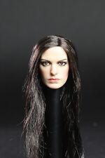 █ Custom Anne Hathaway 1/6 Head Sculpt for Hot Toys Catwoman KUMIK Female Body █