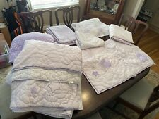 pottery barn kids queen Lavender Andrea Quilt Bedding Set. Stars & Patch Work