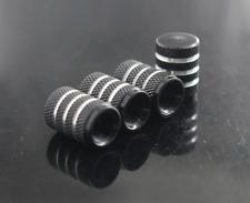 4PCS Black Aluminum Alloy Refit Tire/Wheel Air Pressure Valve Stem Caps