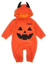 Bilo Baby Toddlers Halloween Fleece Pumpkin Costume Hooded Romper