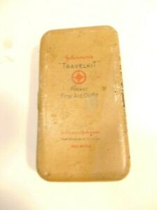 vintage Johnson's metal travel first aid kit tin (empty)