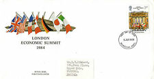 5 JUNE 1984 ECONOMIC SUMMIT POST OFFICE FIRST DAY COVER BASINGSTOKE FDI