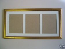Gold wooden multi aperture 8x6  photo / picture frame