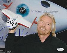Richard Branson Signed 8x10 Photo w/ JSA COA #J61250 + Proof Virgin Galactic