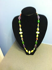 "NEW PRICE ""CHUNKY TURQ HANDCRAFTED NECKLACE""DIVINE CREATIONS BY JUDITH"""