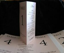 Table Number/Menu Cards Three Sided