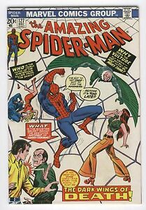 Amazing Spider-Man #127 The Dark Wings Of Death Andru Art Bronze Age Key FVF